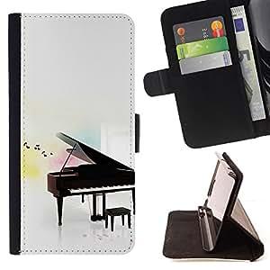 Jordan Colourful Shop - Piano For Sony Xperia m55w Z3 Compact Mini - < Leather Case Absorci????n cubierta de la caja de alto impacto > -