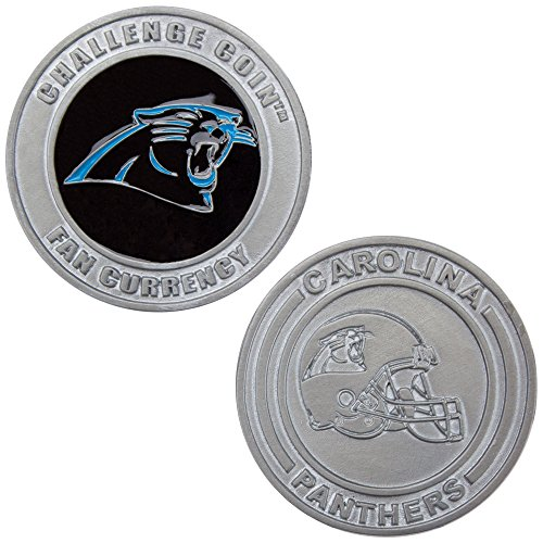 Carolina Panthers Challenge Coin Poker Card Cover - Comes with Free Cut Card! (CAROLINA)