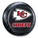 Kansas City Chiefs Black Spare Tire Cover