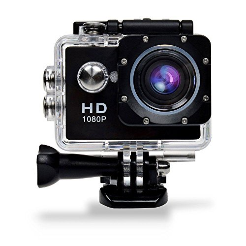 Action Cam 1,5 Zoll 12MP GBB FHD Unterwasser Kamera1080P wasserdichte Kamera mit 170 ° Weitwinkel Sport Action Kamera 900mAh Akku und Zubehör Kitt zum Tauchen,Radfahren,Motorradfahren,Radfahren und Schwimmen (Schwarz)