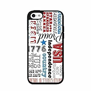 Patriotic Typography White Plastic Phone Case Back Cover iPhone ipod touch4