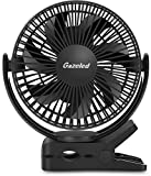 Clip on Fan, Gazeled Portable Rechargeable Personal USB Fan, Small Quiet Battery Powered