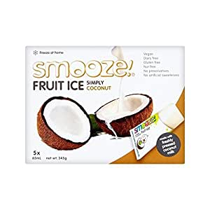 Smooze Simply Coconut Fruit Ice Lollies 5 x 65ml