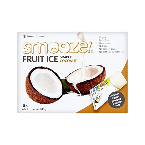 Smooze Simply Coconut Fruit Ice Lollies 5 x 65ml - Pack of 2