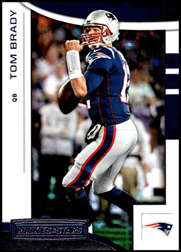 (2018 Rookies and Stars Football #19 Tom Brady New England Patriots Official NFL Trading Card Produced by Panini)