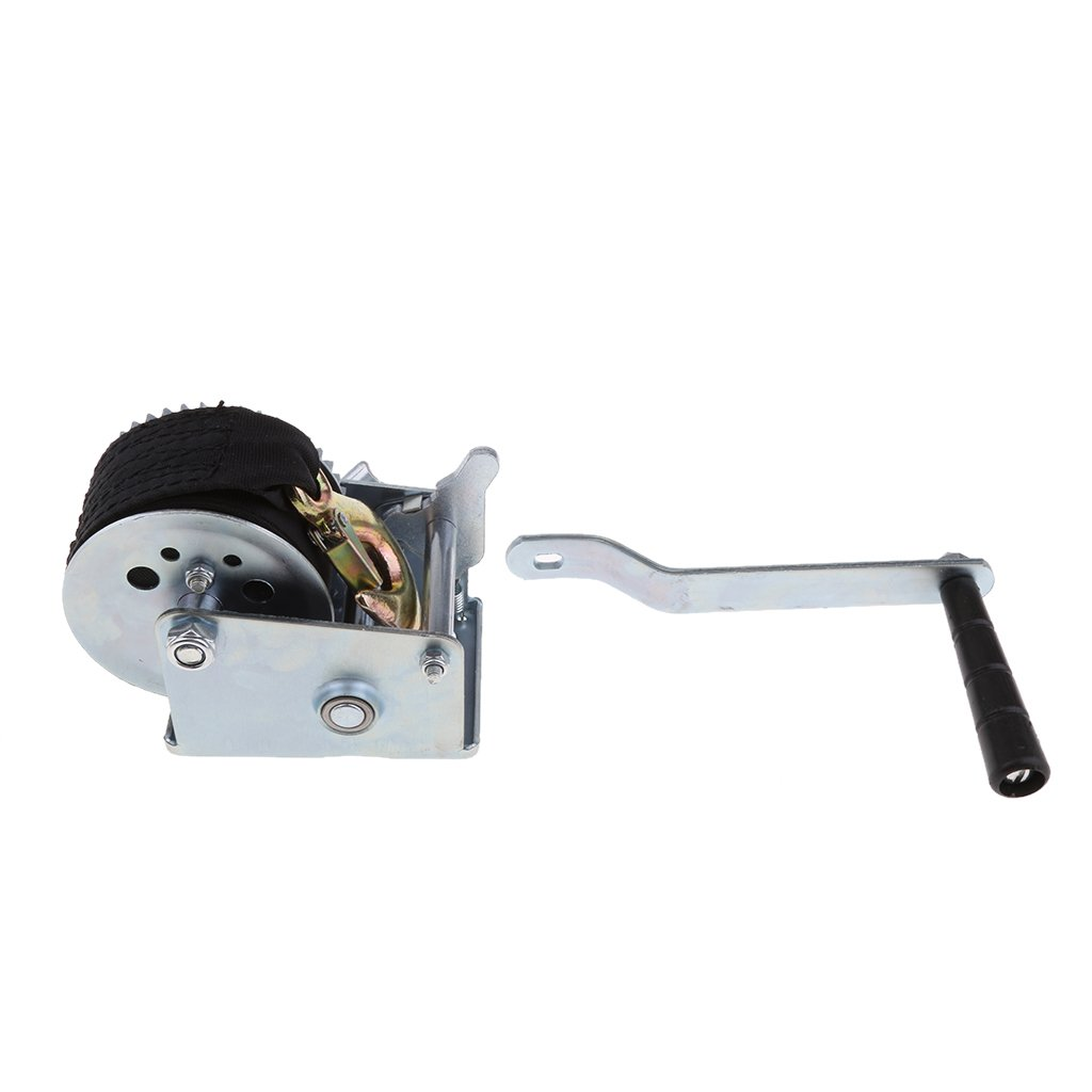 MagiDeal 600LBS Boats Trailer Hand Winch Gear Synthetic System With 6m Nylon Strap