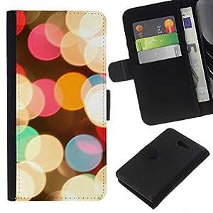 All Phone Most Case / Oferta Especial Cáscara Funda de cuero Monedero Cubierta de proteccion Caso / Wallet Case for Sony Xperia M2 // Evening Night City Christmas Bright