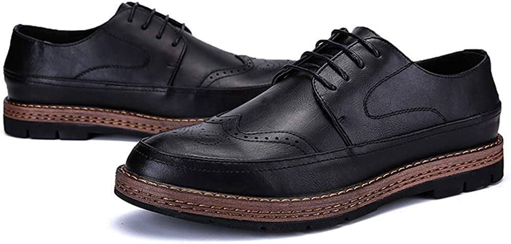 Shufang-shoes Mens Carving British Style Oxford Outsole Classic Brogue Shoes