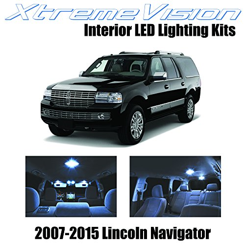 XtremeVision Lincoln Navigator 2007-2015 (5 Pieces) Cool White Premium Interior LED Kit Package +Installation Tool
