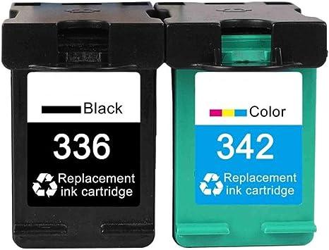 Caidi - Cartuchos de Tinta remanufacturados HP 336 342, Compatible ...