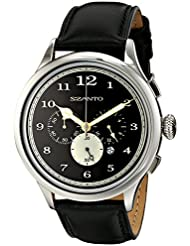 Szanto Unisex SZ 2401 Szanto 2400 Series Analog Display Japanese Quartz Black Watch