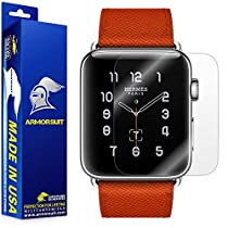 ArmorSuit MilitaryShield Anti-Bubble Full Coverage Ultra HD Screen Protector for Apple Watch - 42mm (Series 2), 2 Pack