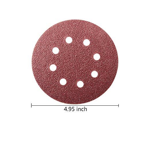 leobro-72-pcs-5-inch-8-hole-hook-and-loop-sandpaper-sanding-disc-sandpaper-sanding-sheets-assorted-40-60-80-180-240-320-grits-for-random-orbit-sander-shipping-by-fba