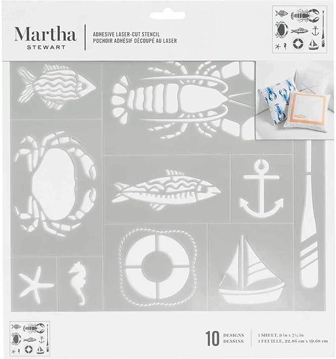 Martha Stewart Adhesive Laser-Cut Stencil~7 designs~ICE CREAM~Quick Ship!