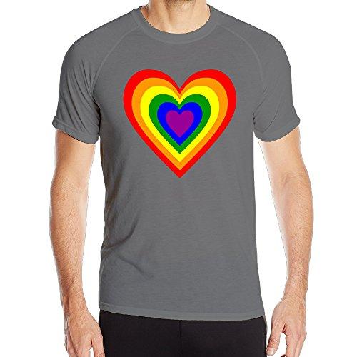 XianNonG RAINBOW HEART Men's Breathable Sport Short Sleeves L - Mall Las Vegas Dr