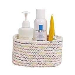 Orino Cotton Rope Storage Baskets Nursery Bins, Set of 4