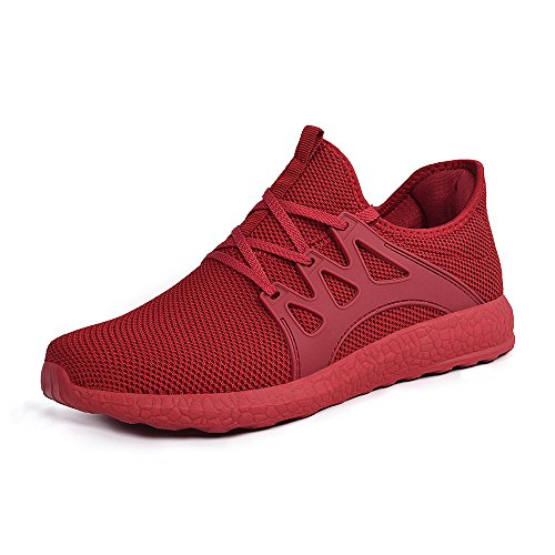 Feetmat Womens Sneakers Ultra Lightweight Breathable Mesh Athletic Walking Running Shoes Red 8