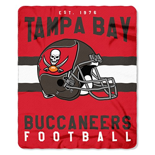 The Northwest Company NFL Tampa Bay Buccaneers Singular Fleece Throw, 50-inch by 60-inch, -