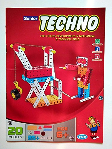 SENIOR TECHNO ,Construction Toys Mechanical Kit For Kids - (Age 6+) with guide book by JAGGERMART (Image #2)