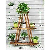 JHZWHJ Wooden Flower Rack Indoor Plant Stand Wooden Plant Flower Display Stand Wood Pot Shelf Storage Rack Outdoor (Color : F)