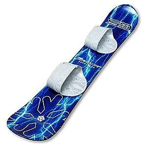 Snow Daze 110 cm Blue Lightning Kids Beginner Snowboard