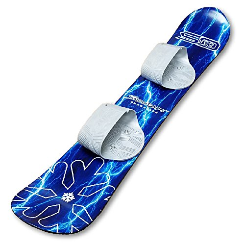 Snow Daze 110 cm Blue Lightning Kids Beginner Snowboard (110cm Snowboard)