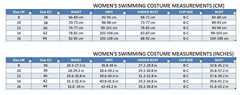 Damen Badeanzug Einteiliger Schwimmanzug Vorgeformte BH-Cups V12 gejWW8sXN