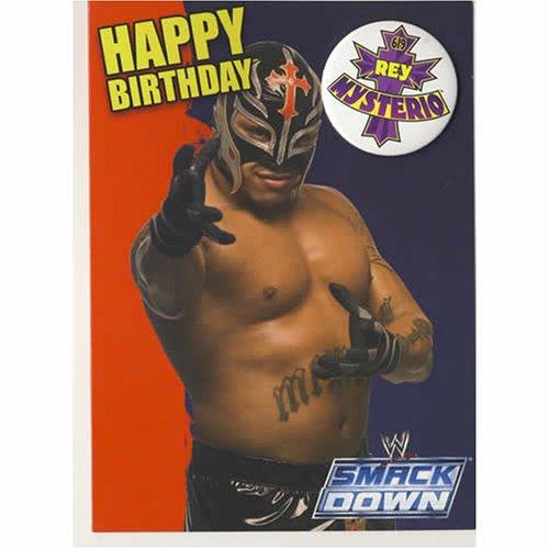WWE Wrestling Rey Mysterio Birthday Card With Badge Amazonco – Wrestling Birthday Cards