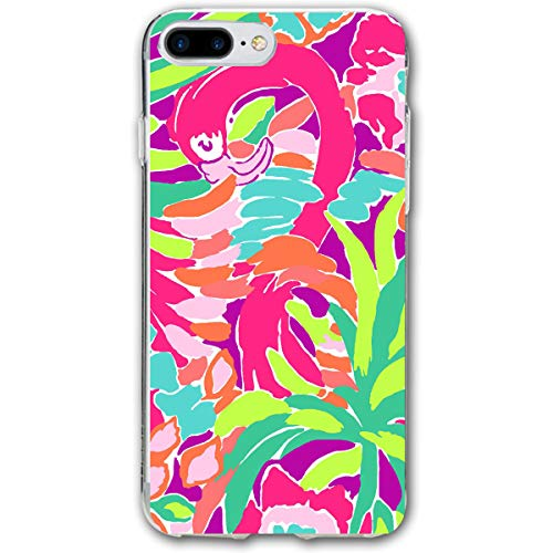AFFueldo Lilly Pulitzer iPhone 7/8 Plus Case Anti Drop Resistant Bumper Case Transparent