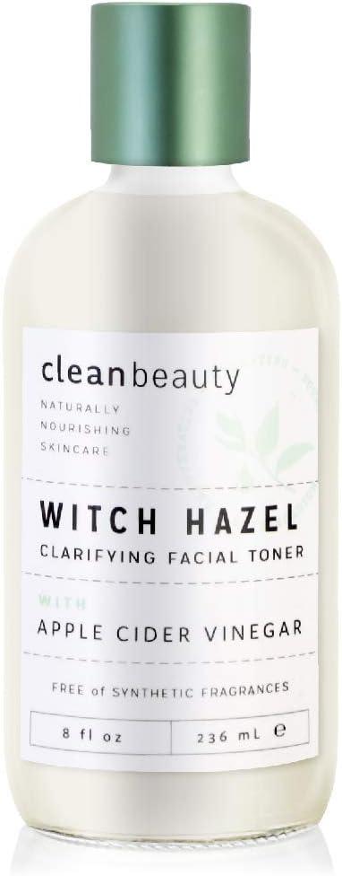 Clean Beauty Witch Hazel Apple Cider Vinegar Toner, 8oz