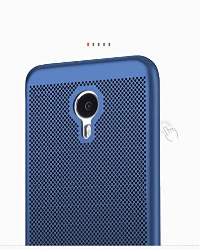 Funda Meizu M3S,Alta Calidad Ultra Slim Anti-Rasguño y Resistente Huellas Dactilares Totalmente Protectora Caso de Plástico Duro Case,Cuadrícula Disipación de calor Antideslizante Cover D