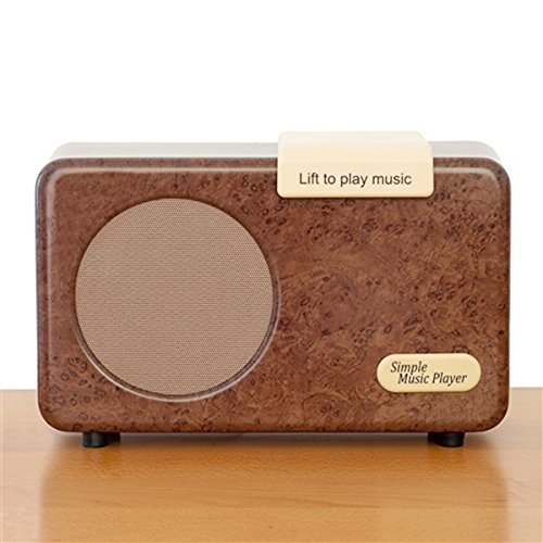 The Simple Music Player - MP3 music box for Alzheimer's and dementia - Walnut Color