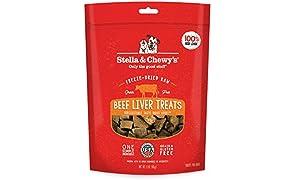 Stella & Chewy's Freeze-Dried Raw Beef Liver Treats, 3 oz Bag