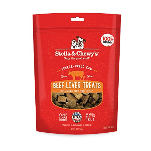- Stella & Chewy's Freeze-Dried Raw Beef Liver Treats, 3 oz bag