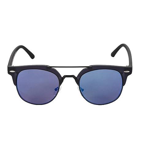 Qi Peng Gafas de Sol Simples Reflectantes Azules de Verano ...