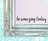 "Tools & Hardware : BERRYZILLA Be Amazing Today DECAL 16"" X 3.5"" Quote Mirror Quotes Vinyl Wall Decals Walls Stickers Home Decor ( Stickerciti Brand )"