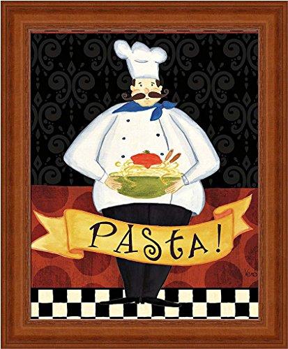 Pasta Chef Framed Art Print by Veronique Charron