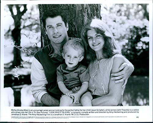 Vintage Photos 1989 Actor Kirstie Alley Jason Schaller Look Who's Talking Travolta 8X10