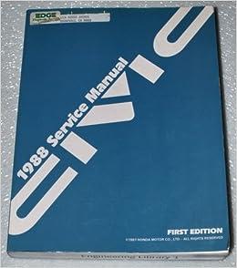 1988 Honda Civic Factory Service Manual Motor Co LTD Amazon Books