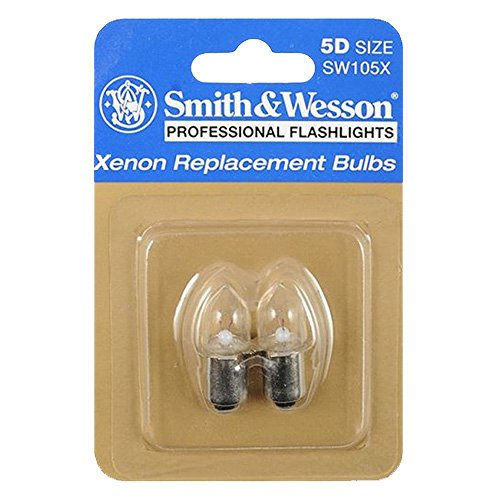 Smith & Wesson Accessories 6.5V .80 Amp Xenon Replacement Bulbs for SW555 5D Flashlights (2 Pack)