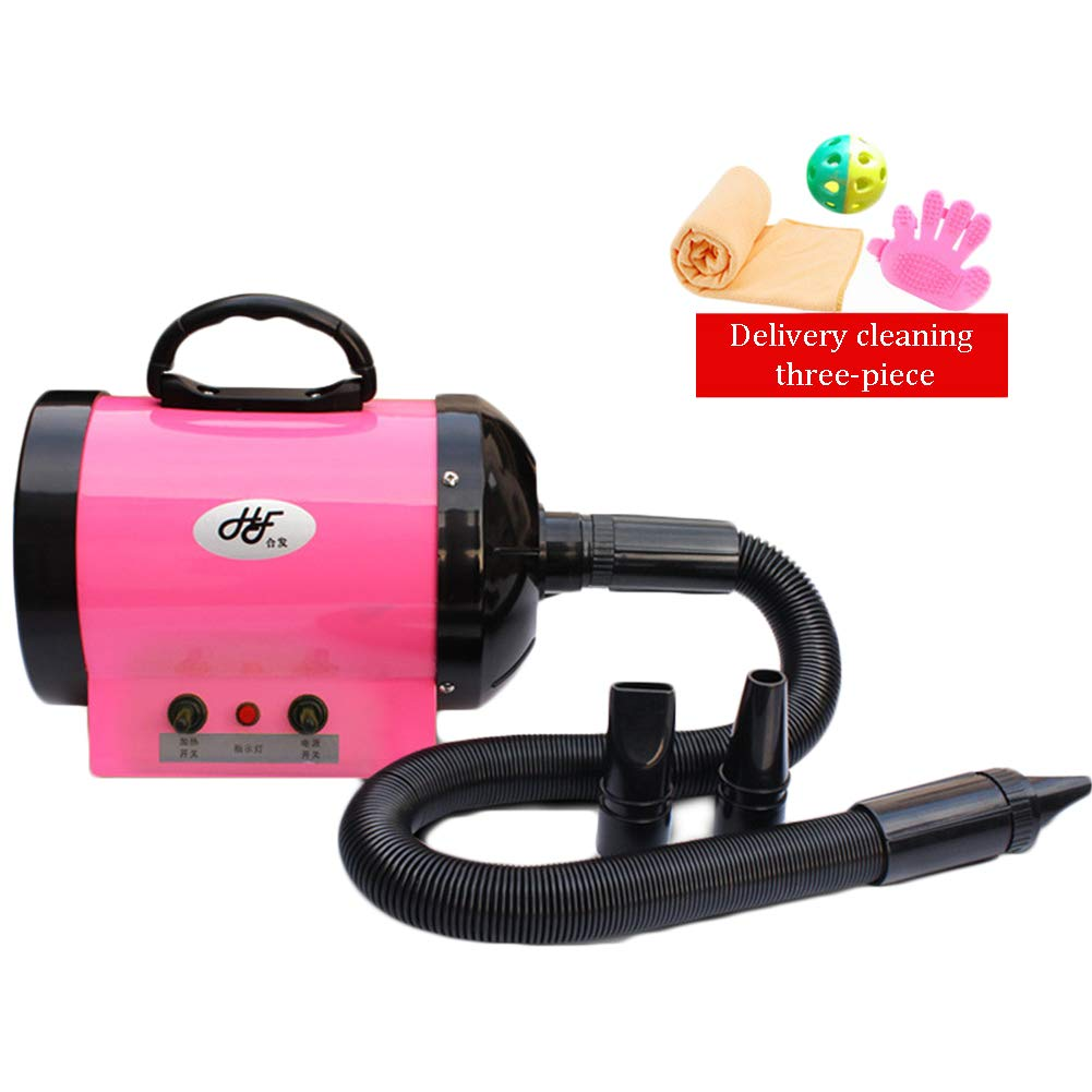 CSJI Pet Grooming Hair Dryer 1200W dog grooming dryer hair pink Hairdryer- Also send cleaning kit