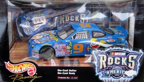 1999 Hot Wheels Nascar Rocks America Die Cast Guitar and Body Cartoon Network 1:24 scale - Nascar Rocks