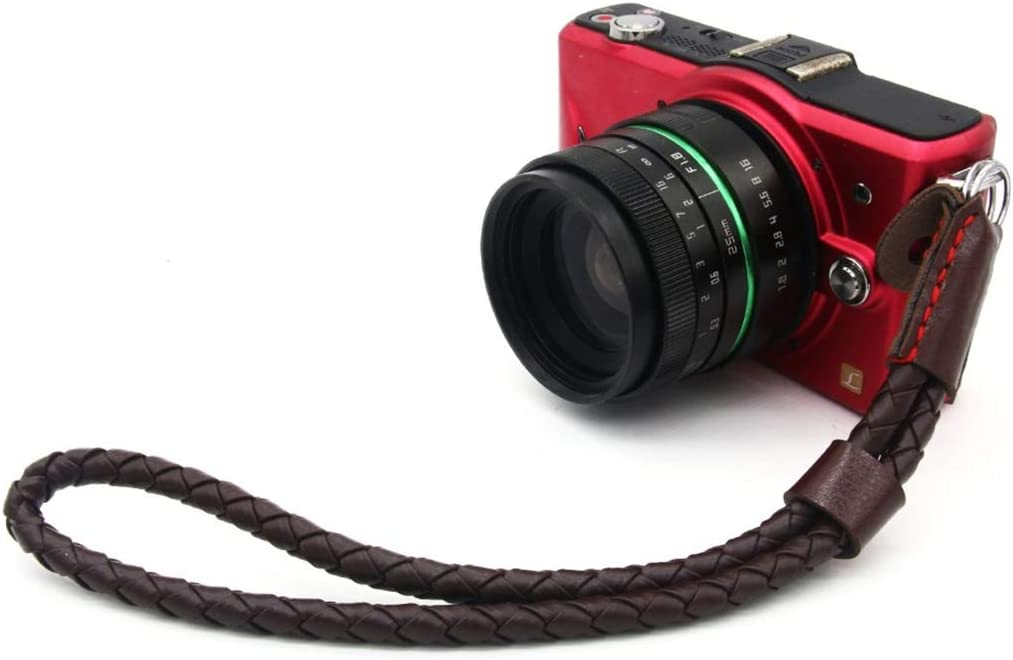 Color : Coffee Coffee HUIFANGBU JHY Weave Style Wrist Strap Grip PU Leather Hand Strap for DSLR//SLR Cameras