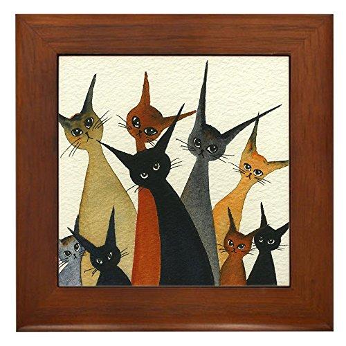 CafePress - Irvine Stray Cats - Framed Tile, Decorative Tile Wall Hanging