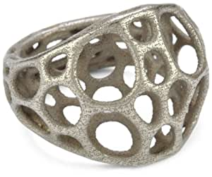 """Nervous System """"2-layer Center"""" Stainless Steel Ring, Size 5"""