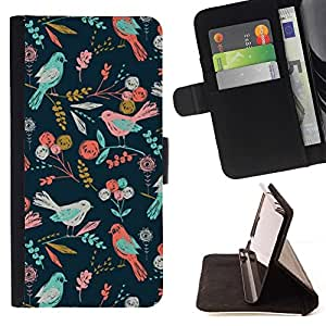 Momo Phone Case / Flip Funda de Cuero Case Cover - Motif Fleurs d'été - Sony Xperia Z3 Compact