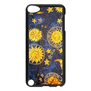Design Case Cute Sun Moon Stars Space Nebula Print on Hard Plastic Back Case Cover Ipod touch 5 Case Perfect as Christmas gift(4)