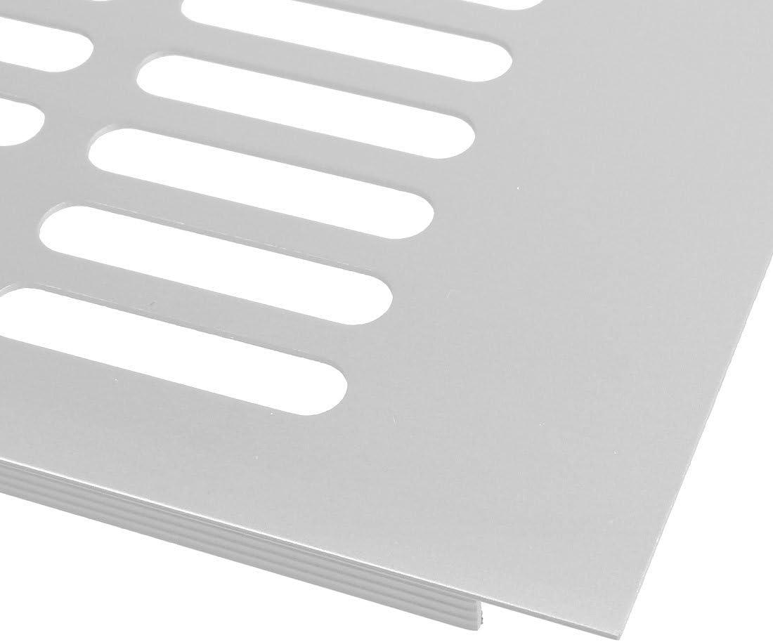sourcing map Rejilla de Ventilaci/ón del Aire de Ventilaci/ón 4Pcs 150mm X 250mm de Armario Ropero de Aleaci/ón de Aluminio