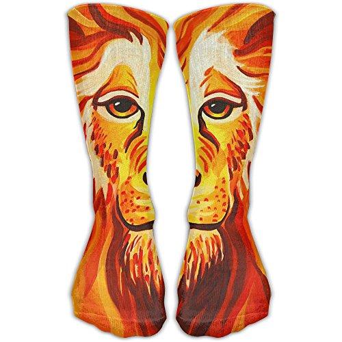 Lion Face Paint Women & Men Socks Soccer Sport Tube Stockings Length 30cm