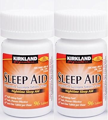 Kirkland Sleep Aid (Doxylamine succinate) 25 mg 192 Tablets - Brand New Sealed